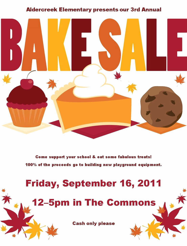 Free Bake Sale Template Inspirational Cancel Save