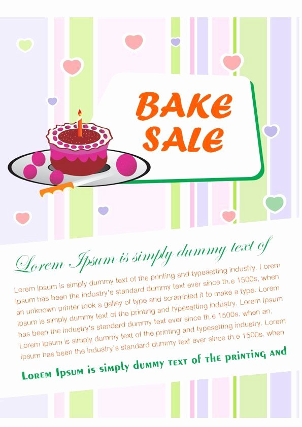 Free Bake Sale Template Inspirational Engaging Free Bake Sale Flyer Templates for Fundraising