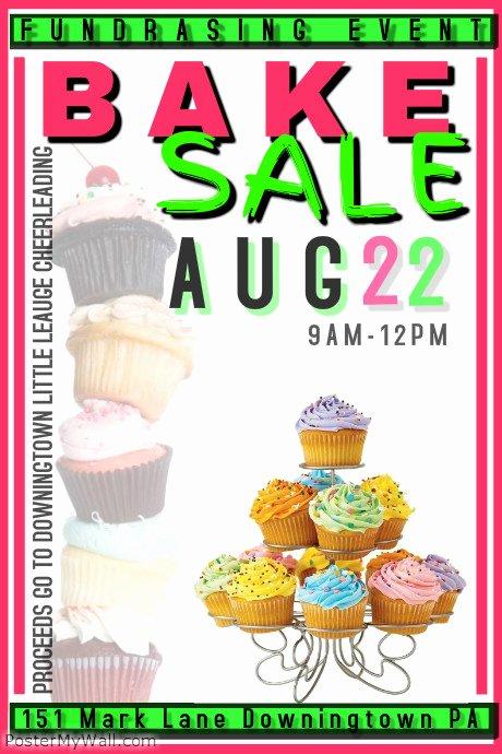 Free Bake Sale Template Lovely Bake Sale Template
