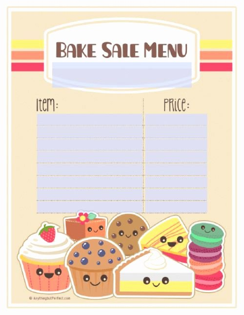 Free Bake Sale Template New Free Printable Pdf Bake Sale Labels Signs and More
