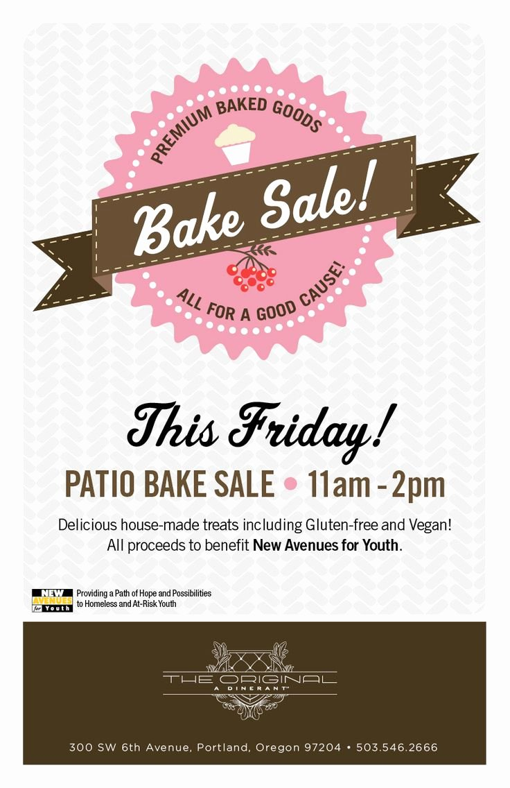 Free Bake Sale Template Unique 25 Best Ideas About Bake Sale Flyer On Pinterest