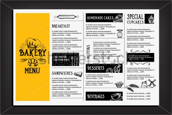 Free Bakery Menu Template Awesome 16 Sample Bakery Menu Templates