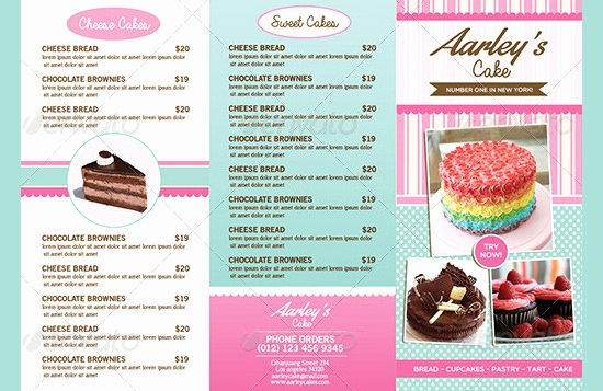Free Bakery Menu Template Awesome 30 Bakery Menu Templates Psd Pdf Eps Indesign