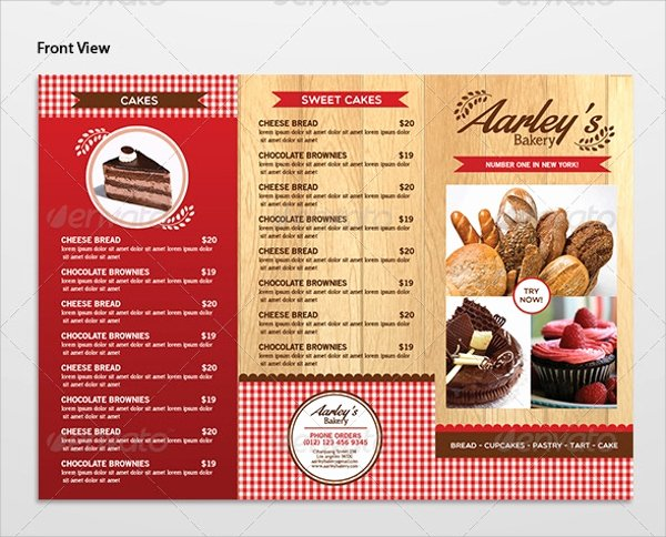 Free Bakery Menu Template Best Of 16 Sample Bakery Menu Templates