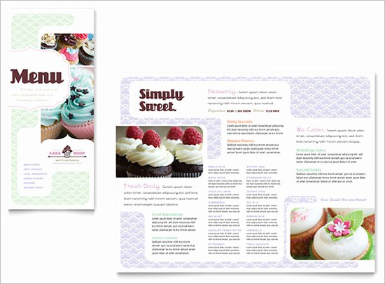 Free Bakery Menu Template Best Of 30 Bakery Menu Templates Psd Pdf Eps Indesign