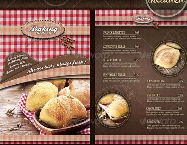 Free Bakery Menu Template Best Of 30 Food Menus Templates for Café and Restaurants