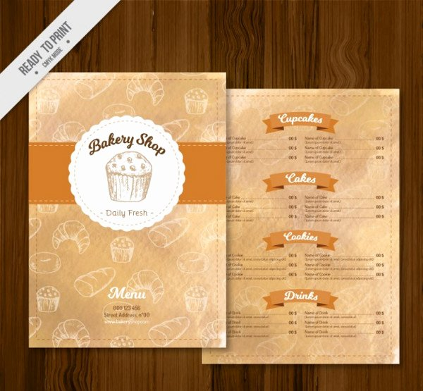 Free Bakery Menu Template Elegant Bakery Menu Template 25 Free & Premium Download