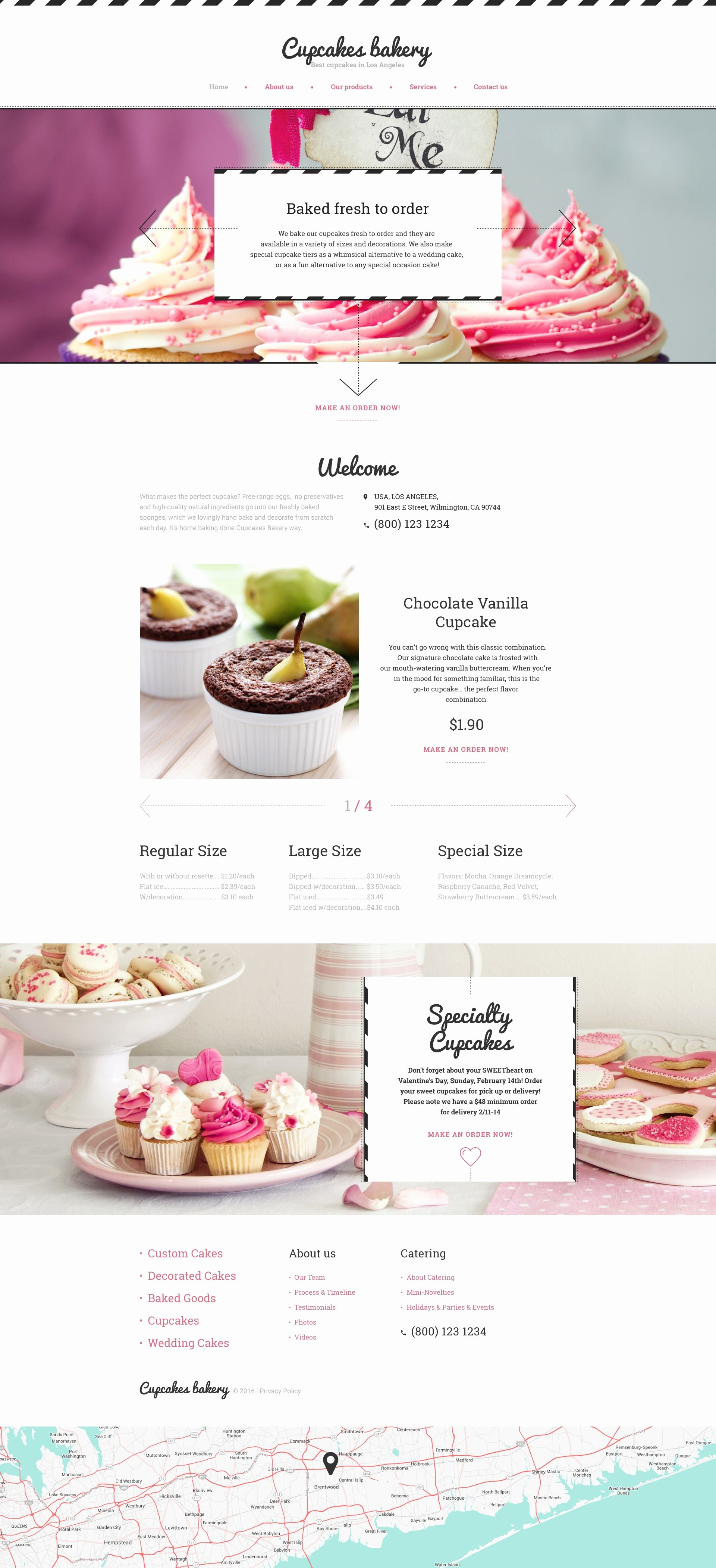 Free Bakery Menu Template Elegant Cupcakes Bakery Website Template