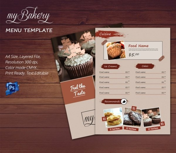 Free Bakery Menu Template Fresh Bakery Menu Template – 30 Free Word Psd Pdf Eps