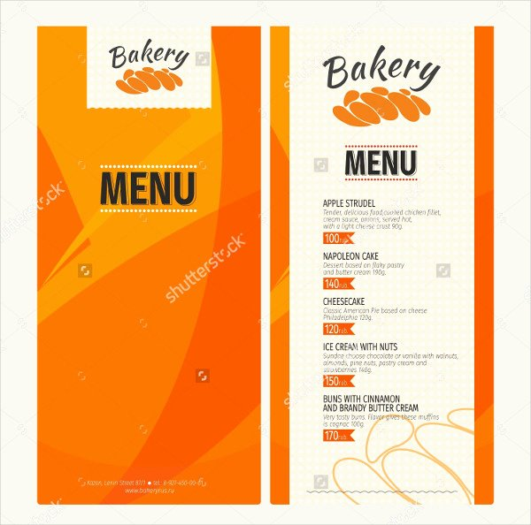 Free Bakery Menu Template Lovely Bakery Menu Template 25 Free & Premium Download