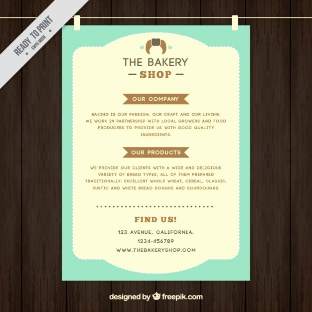 Free Bakery Menu Template Lovely Bakery Shop Menu Template In Vintage Style Vector