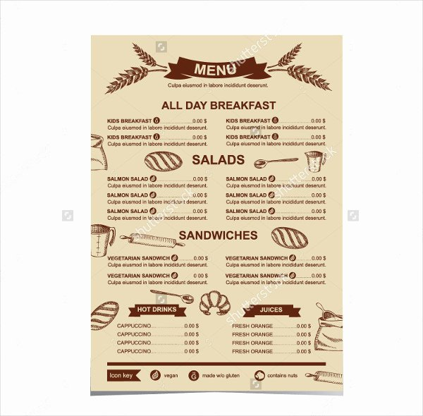 Free Bakery Menu Template Luxury Bakery Menu Template 25 Free & Premium Download