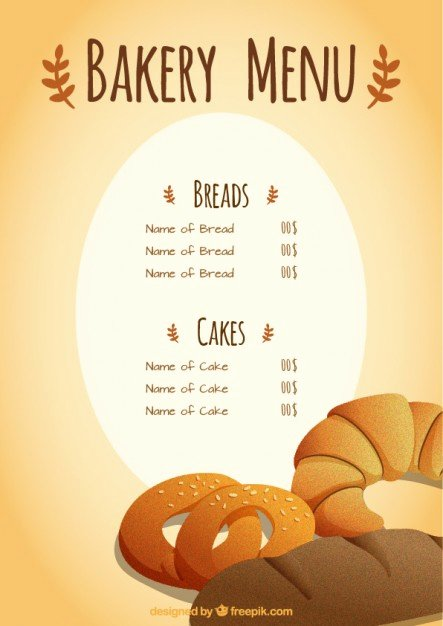Free Bakery Menu Template New Bakery Menu Template Vector