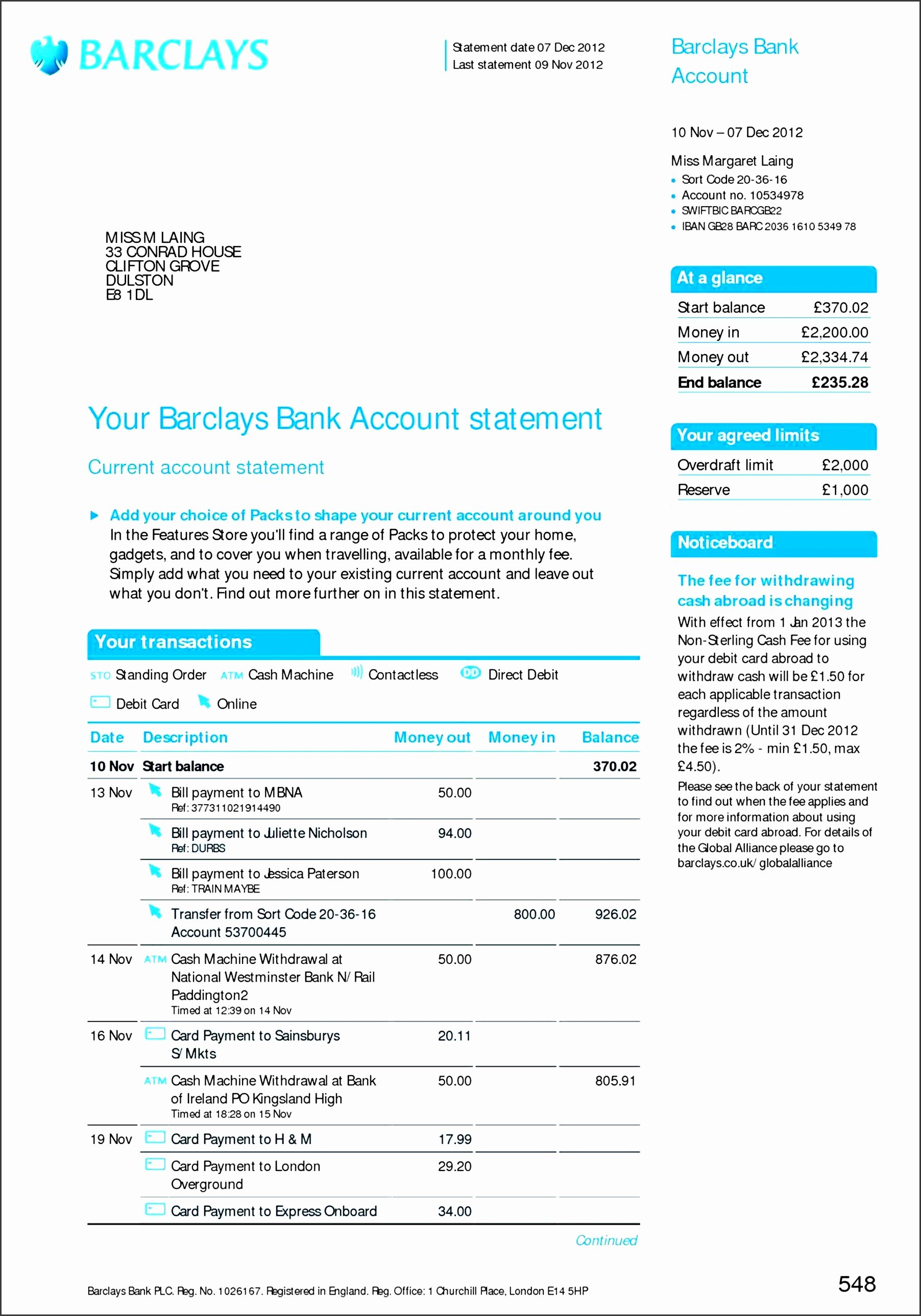 Free Bank Statement Template New 8 Free Bank Statement Line Sampletemplatess
