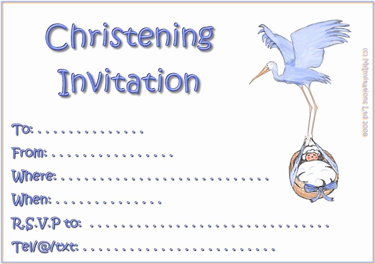 Free Baptism Invitation Templates Elegant Printable Christening Invitations