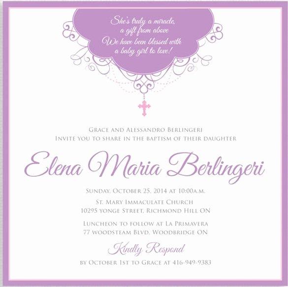 Free Baptism Invitation Templates Fresh Baby Dedication Invitation Templates Free Cobypic