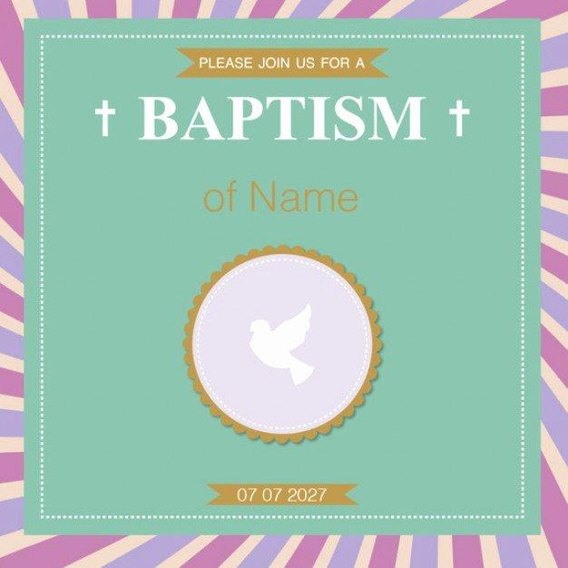 Free Baptism Invitation Templates Fresh Baptism Invitation Template Vector