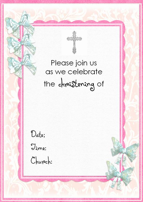 Free Baptism Invitation Templates New Free Christening Invitation Cards