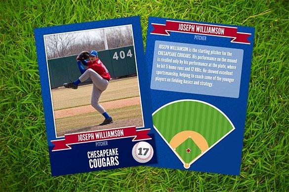 Free Baseball Card Template Download Beautiful Baseball Card Template
