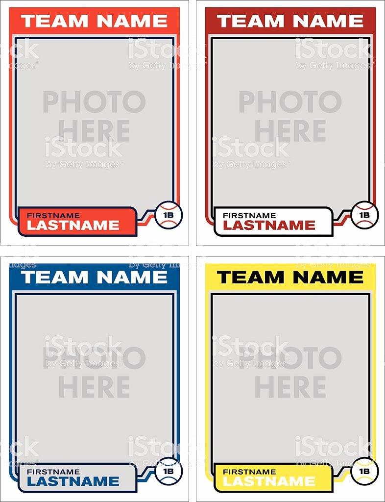 Free Baseball Card Template Download Inspirational Baseball Card Vector Template Stock Vector Art & More