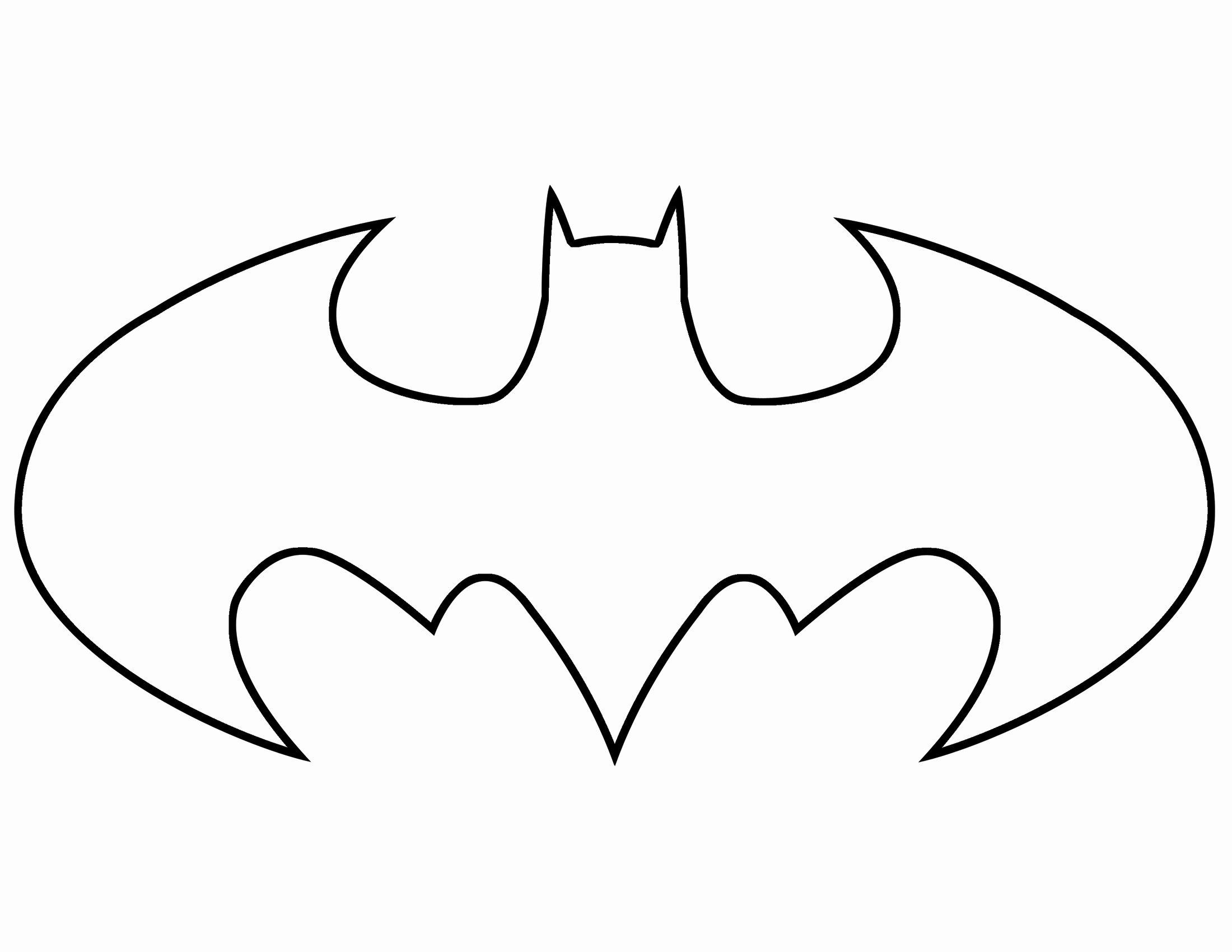 Free Batman Pumpkin Stencil Elegant Batman Symbol Template Clipart Best