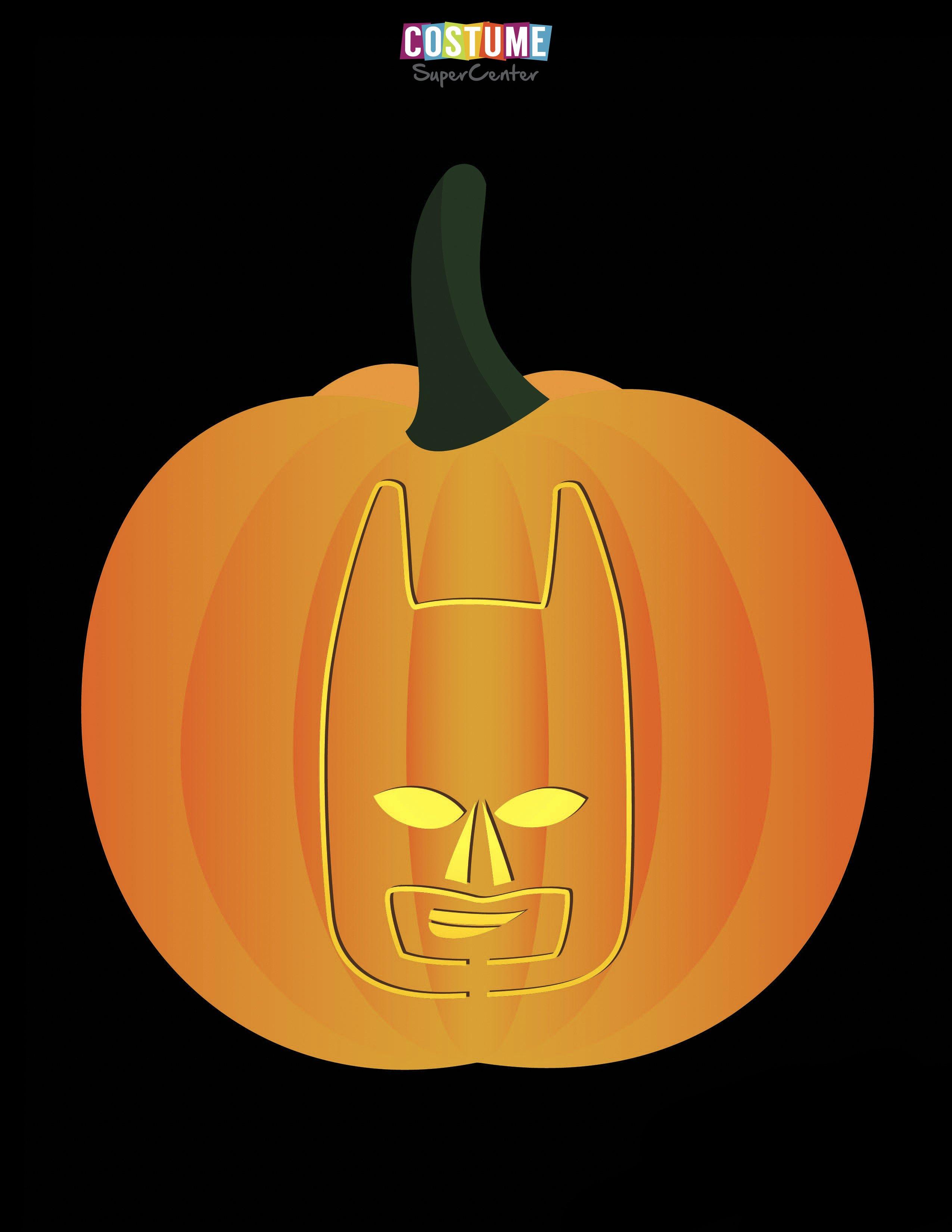 Free Batman Pumpkin Stencil Fresh Fun and Free Printable themed Pumpkin Carving Stencils