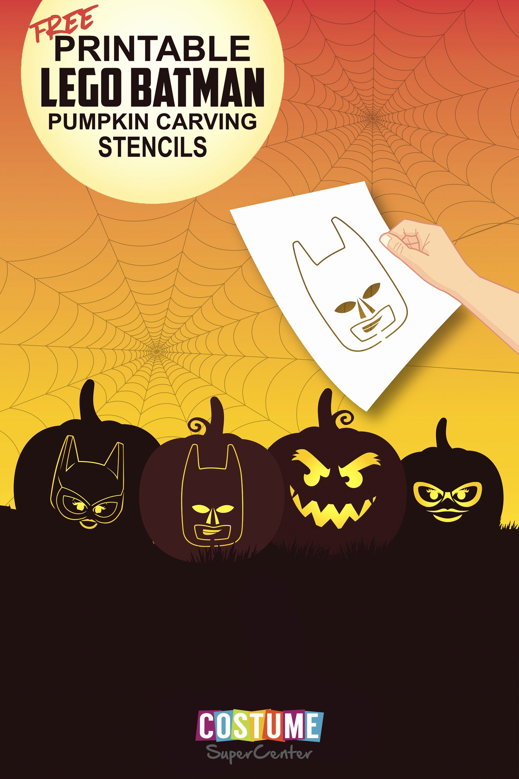 Free Batman Pumpkin Stencil Inspirational Lego Batman Pumpkin Carving Stencils
