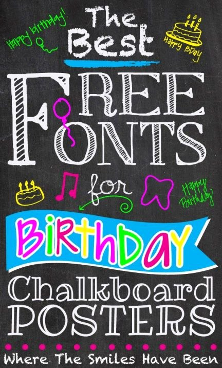 Free Birthday Chalkboard Template Elegant 25 Best Ideas About Birthday Chalkboard On Pinterest