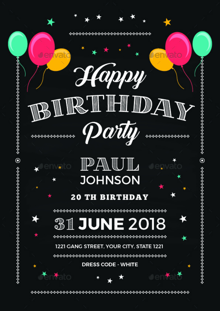 Free Birthday Chalkboard Template Fresh Chalkboard Birthday Invitation Cv51 – Advancedmassagebysara