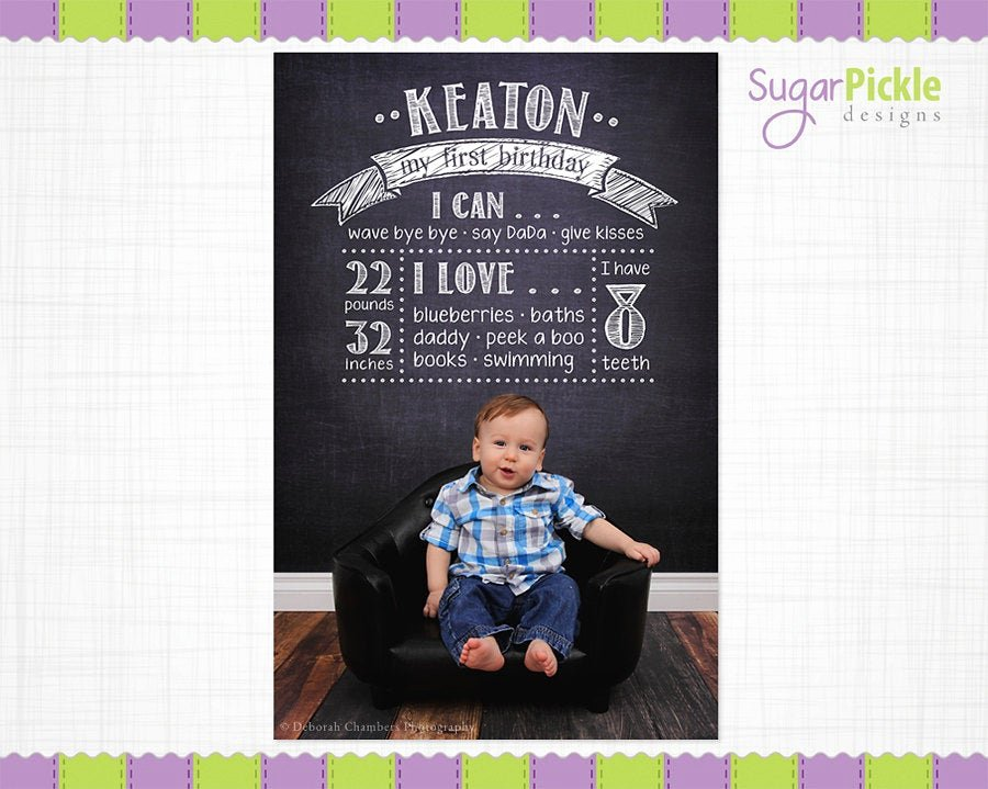 Free Birthday Chalkboard Template Lovely Birthday Chalkboard Template Birthday Overlay First Birthday