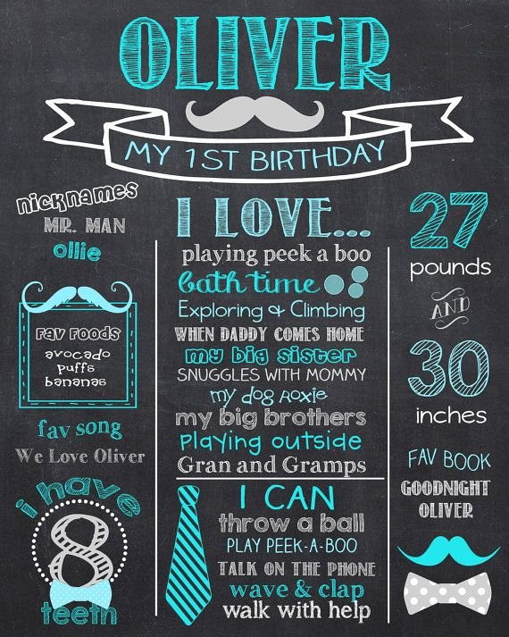 Free Birthday Chalkboard Template Lovely Tie 1st Birthday Chalkboard Mustache & Bow Ties by