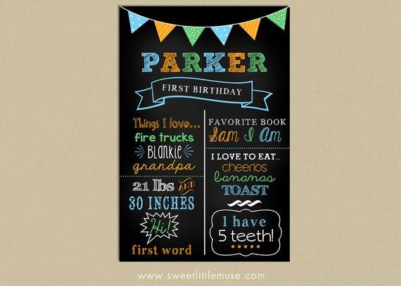 Free Birthday Chalkboard Template New First Birthday Chalkboard Template Chalkboard Birthday