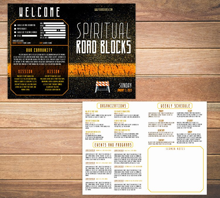 Free Bulletin Template Awesome Free Church Bulletin Templates 8 Professionally Designed