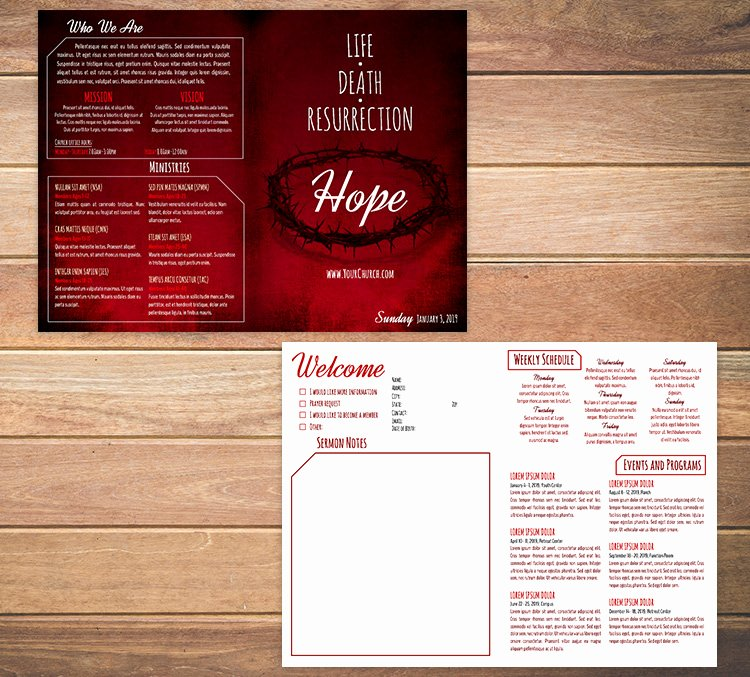 Free Bulletin Template Awesome Free Church Bulletin Templates Customize In Microsoft Word