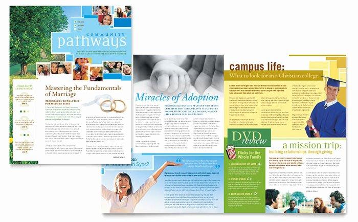 Free Bulletin Template Beautiful Munity Church Newsletter Template Design