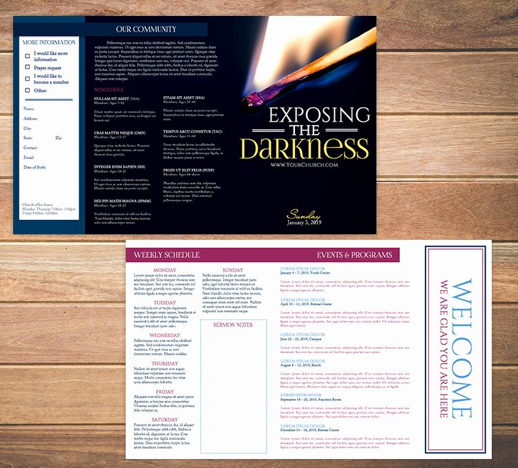 Free Bulletin Template Fresh Free Church Bulletin Templates 8 Professionally Designed
