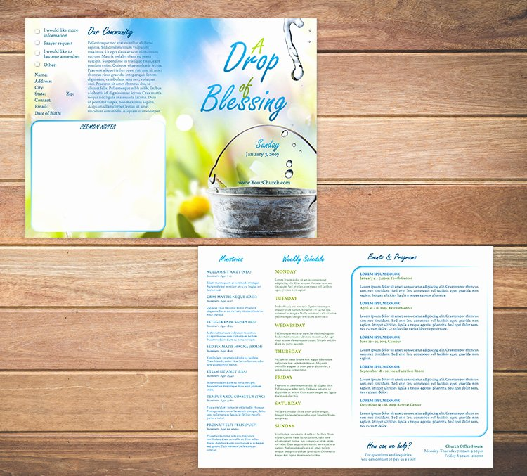 Free Bulletin Template Inspirational Free Church Bulletin Templates Customize In Microsoft Word