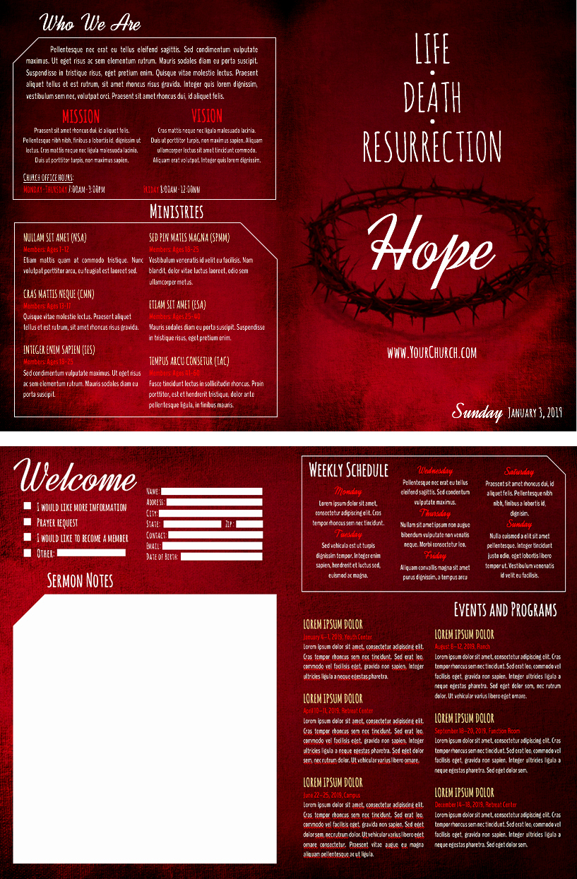 Free Bulletin Template New 8 Free Church Bulletin Templates