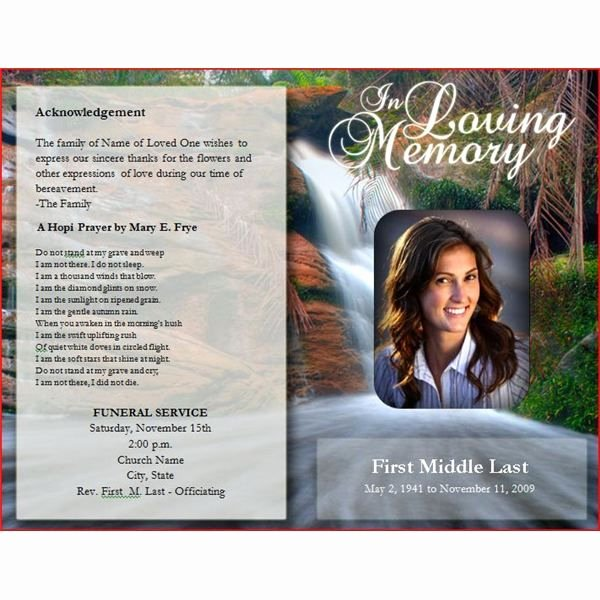 Free Bulletin Template New Downloadable Funeral Bulletin Covers