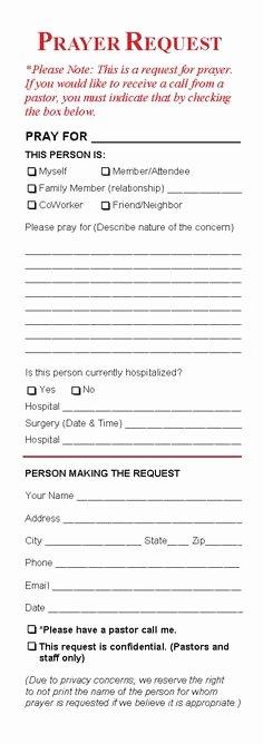 Free Bulletin Template Unique Free Printable Prayer Request