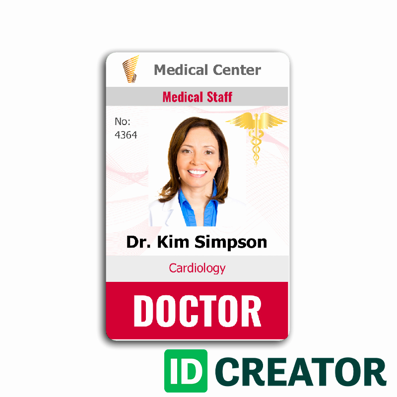 Free Child Id Card Template Fresh Doctor Id Card 4 Healthcare Hospital Badge