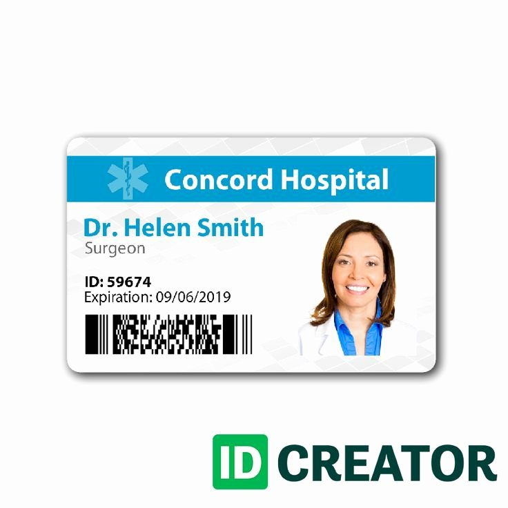 Free Child Id Card Template Inspirational Pin by Idcreator On Healthcare Hospital Badge