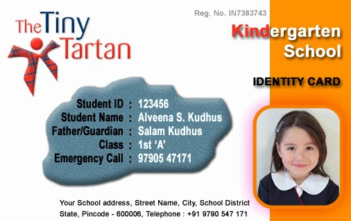 Free Child Id Card Template Luxury Id Cards Student Id Card Free Template