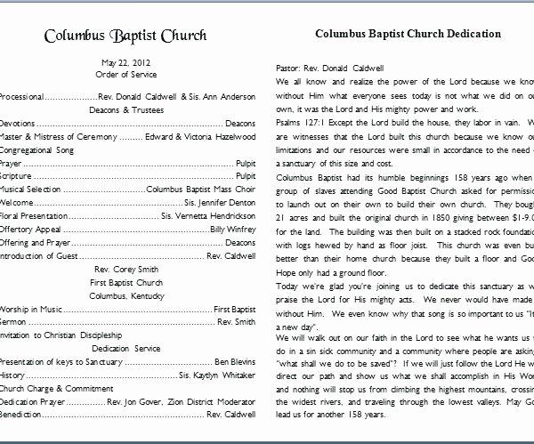Free Church Bulletin Templates Inspirational 15 Church Bulletin Templates