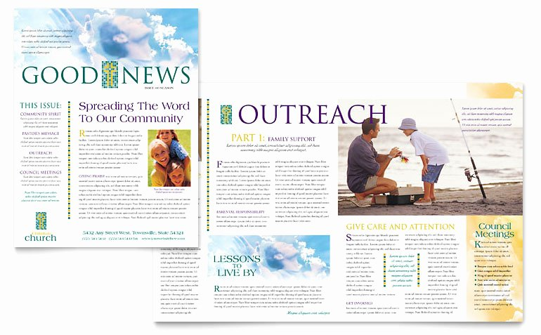 Free Church Bulletin Templates Microsoft Publisher Awesome Christian Church Newsletter Template Word & Publisher