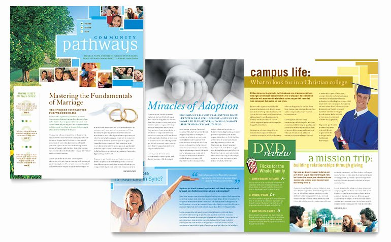 Free Church Bulletin Templates Microsoft Publisher Awesome Munity Church Newsletter Template Word & Publisher