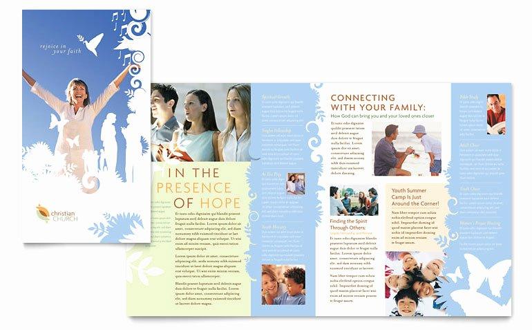 Free Church Bulletin Templates Microsoft Publisher Elegant Christian Church Brochure Template Word & Publisher