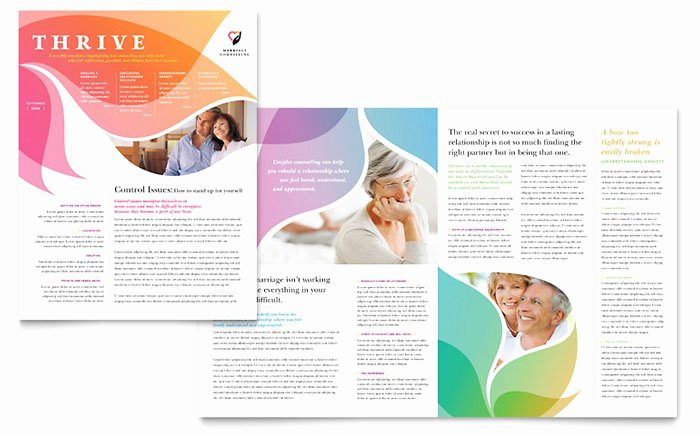 Free Church Bulletin Templates Microsoft Publisher Fresh Marriage Counseling Newsletter Template Design