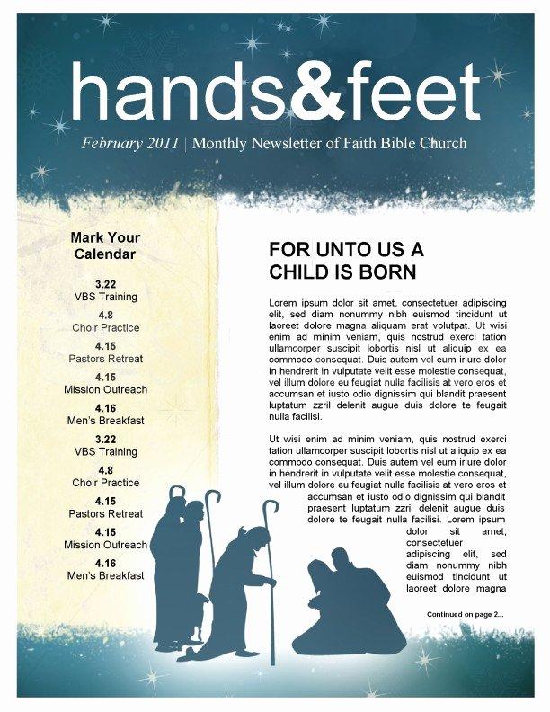 Free Church Bulletin Templates Microsoft Publisher Lovely Nativity Church Newsletter Template Template