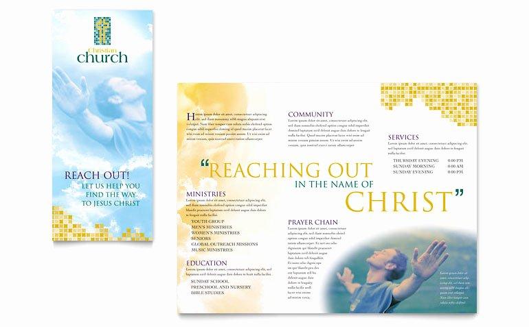 Free Church Bulletin Templates Microsoft Publisher Luxury Christian Church Brochure Template Word & Publisher